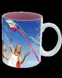 Mug white - inside pink