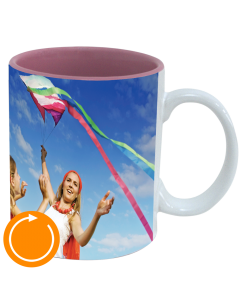 Mug white - inside pink Pano