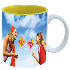 Mug white - inside yellow