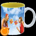 Mug white - inside yellow Pano